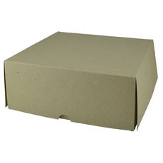 Four Donut & Cake Box - Kraft Brown Paperboard (Brown Inside) - Paperboard