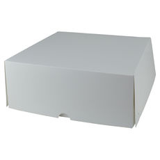 Four Donut & Cake Box - Smooth White Paperboard