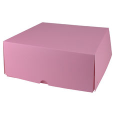 Four Donut & Cake Box - Matt Pink Paperboard  - Paperboard - Temp out of Stock