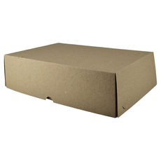 Six Donut & Cake Box - Kraft Brown Paperboard Paperboard (285gsm)