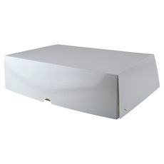 Six Donut & Cake Box - Gloss White Paperboard