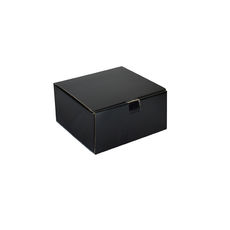 One Piece Postage & Gift Box 18837 - Kraft Black (Double Sided Black)