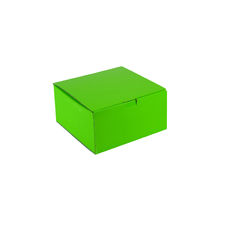 One Piece Postage & Gift Box 18837 - Premium Gloss Lime Green (White Inside)