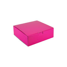 One Piece Postage & Gift Box 18839 - Premium Gloss Hot Pink (White Inside)