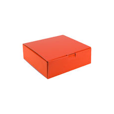 One Piece Postage & Gift Box 18839 - Premium Gloss Orange (White Inside)