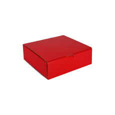One Piece Postage & Gift Box 18839 - Premium Gloss Red (White Inside)
