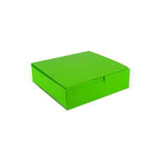 One Piece Postage & Gift Box 18840 - Premium Gloss Lime Green (White Inside)