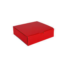 One Piece Postage & Gift Box 18840 - Premium Gloss Red (White Inside)