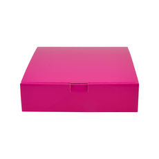 One Piece Postage & Gift Box 18841 - Premium Gloss Hot Pink (White Inside)