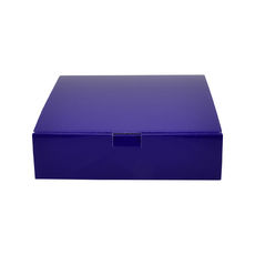 One Piece Postage & Gift Box 18841 - Premium Gloss Purple (White Inside)