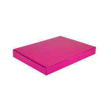 A5 Postal Box 25mm High - Premium Gloss Hot Pink (White Inside)