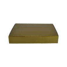 A5 Postal Box 50mm High - Premium Gloss Gold (White Inside)