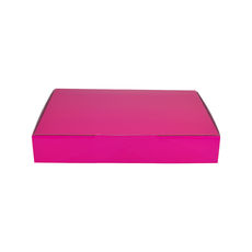 A5 Postal Box 50mm High - Premium Gloss Hot Pink (White Inside)