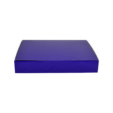 A5 Postal Box 50mm High - Premium Gloss Purple (White Inside)