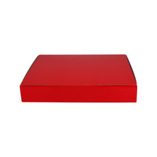 A5 Postal Box 50mm High - Premium Gloss Red (White Inside)