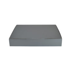 A5 Postal Box 50mm High - Premium Gloss Silver (White Inside)