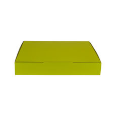 A5 Postal Box 50mm High - Premium Gloss Yellow (White Inside)