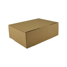 A5 Postal Box 75mm High - Kraft Brown (Brown Inside)
