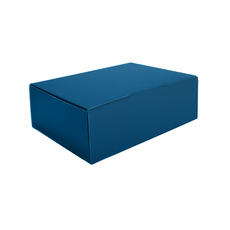 A5 Postal Box 75mm High - Premium Gloss Navy Blue (White Inside)