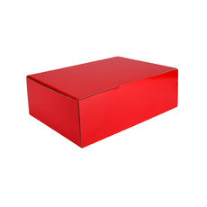 A5 Postal Box 75mm High - Premium Gloss Red (White Inside)