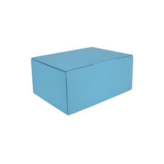 A5 Postal Box 100mm High - Premium Gloss Baby Blue (White Inside)