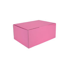 A5 Postal Box 100mm High - Premium Gloss Baby Pink (White Inside)