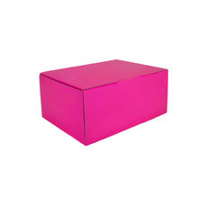 A5 Postal Box 100mm High - Premium Gloss Hot Pink (White Inside)