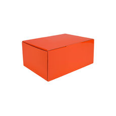 A5 Postal Box 100mm High - Premium Matt Orange (White Inside)