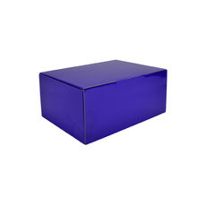 A5 Postal Box 100mm High - Premium Gloss Purple (White Inside)