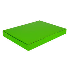 A4 Postal Box 25mm High - Premium Gloss Lime Green (White Inside)