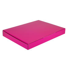 A4 Postal Box 25mm High - Premium Matt Hot Pink (White Inside)