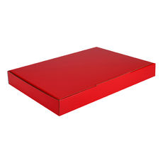 A4 Postal Box 25mm High - Premium Gloss Red (White Inside)