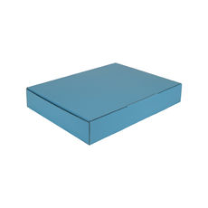 A4 Postal Box 50mm High - Premium Gloss Baby Blue (White Inside)
