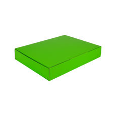 A4 Postal Box 50mm High - Premium Gloss Lime Green (White Inside)
