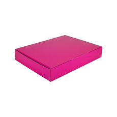 A4 Postal Box 50mm High - Premium Gloss Hot Pink (White Inside)