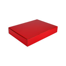 A4 Postal Box 50mm High - Premium Gloss Red (White Inside)