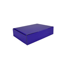 A4 Postal Box 75mm High - Premium Gloss Purple (White Inside)