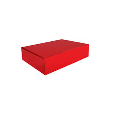 A4 Postal Box 75mm High - Premium Gloss Red (White Inside)