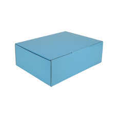 A4 Postal Box 100mm High - Premium Gloss Baby Blue (White Inside)