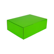 A4 Postal Box 100mm High - Premium Gloss Lime Green (White Inside)