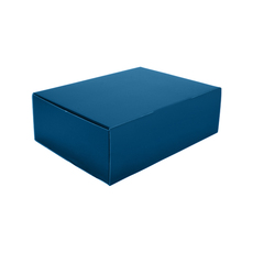 A4 Postal Box 100mm High - Premium Gloss Navy Blue (White Inside)