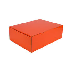 A4 Postal Box 100mm High - Premium Matt Orange (White Inside)