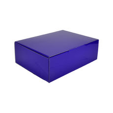 A4 Postal Box 100mm High - Premium Gloss Purple (White Inside)