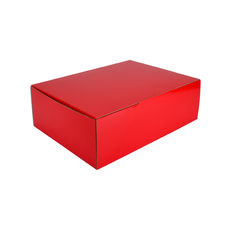A4 Postal Box 100mm High - Premium Gloss Red (White Inside)
