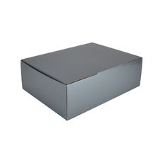 A4 Postal Box 100mm High - Premium Gloss Silver (White Inside)