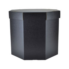 Small Hat Box 19263LB Base & Lid - Kraft Black (Double Sided)