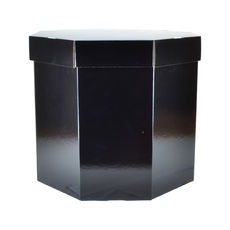 Small Hat Box 19263LB - Premium Gloss Black