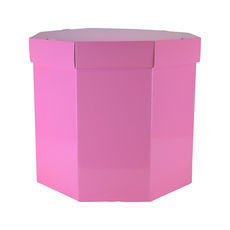 Small Hat Box 19263LB - Premium Gloss Baby Pink