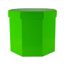 Small Hat Box 19263LB - Premium Gloss Lime Green
