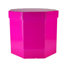 Small Hat Box 19263LB - Premium Gloss Hot Pink